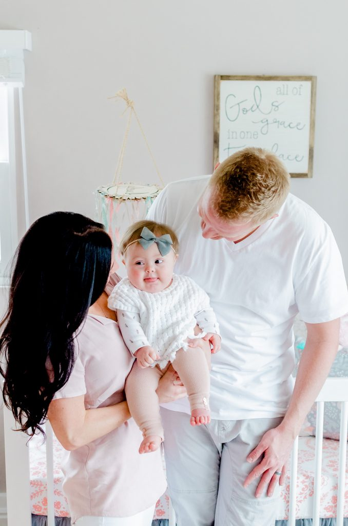 family, baby nursery, lifestyle photo shoot